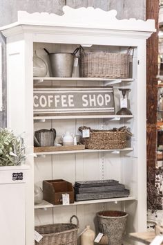 A New Space for Love Grows Wild Market Antique French Doors, Diy Playhouse, Candle Store, Shops, Kitchen Display, Happy House, News Space, Store Displays, Tasting Room