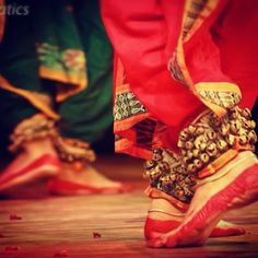 The steps in Odissi are unique and critical to the performance. Here's a close look at the happy feet that just know how to move :-)  Doesn't  Odissi dance mesmerise you?