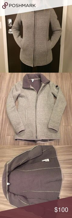 Bench. Urban wear fleece jacket A very warm coat. Has only been used one year and fleece is still soft and in great condition. Long enough to cover the bum! Grey with light speckles (pink, green, purple). This really is a beautiful coat! Bench Jackets & Coats