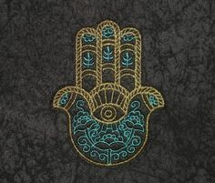 Hamsa Iron On Patch, All Seeing Eye, Eye of Providence, Iron On Patch, Sign of Protection, Spiritual