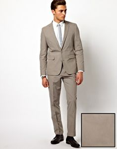 ASOS Slim Fit Suit In Poplin