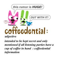 coffeedential only with coffee in had