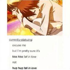 Kiss kiss fall in Love Not huh huh fall in love Ouran high school host club Ouran Highschool Host Club, Ouran Host Club, High School Host Club, Manga Anime, Me Anime, I Love Anime, Anime Stuff, Manga Comics, Death Note