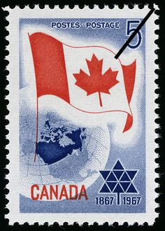 Centennial Year for Canada.  My grandparents had the centennial symbol painted on their driveway.