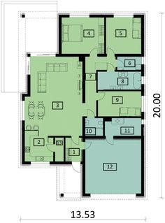 DOM.PL™ - Projekt domu PJK Ka23 ver.1 CE - DOM GW1-27 - gotowy koszt budowy Modern Family House, Cool House Designs, Home Goods, House Plans, Floor Plans, How To Plan, Houses, Country Houses, Little Cottages