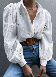 Stylish Outfits, Cool Outfits, Fashion Outfits, Women's Fashion, Long Shirt Outfits, Summer Outfits, Fashion Blouses, Daily Fashion, Fashion Ideas