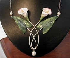 Calla lily necklace by Ali di Libellula, via Flickr