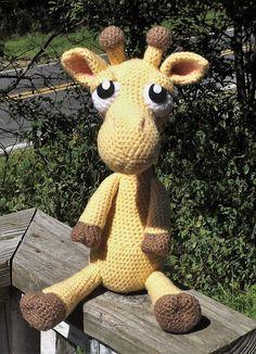 Giraffe Amigurumi doll ready to ship by LisaJestesDesigns on Etsy