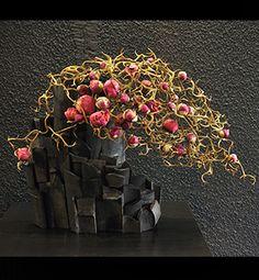 black & pink Ikebana - schwarz & pink Ikebana