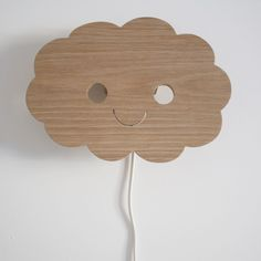 Handmade wooden children's cloud lamp available from littlegoldie.com
