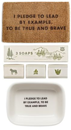 Scouts' Honor // Cool Scout Related Home Items and Gifts for Guys