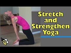 Stretch and Strengthen with Yoga Poses - Flow-Style Workout to Get Strong and Lean at Home No equipment needed for this simple yet challenging home workout.  Follow along in real time with yoga poses designed for beginners.