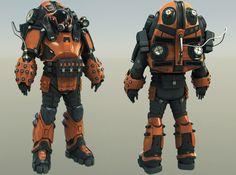 ArtStation - Sci-Fi Character WIP, Brad Myers