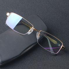 4aa7e7ae6e3b New Style Men Pure Titanium Eyeglasses Frames Half Frame Spectacle Frames  M8001 High Quality Optical Frame Eyewear Glasses