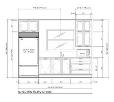 21 Best Kitchen Drawings Plan Elevation Section Images In 2018
