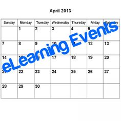 133 eLearning Events taking place in April 2013  Would you like to attend an e-Learning event or conference during April 2013? At the following list you will find 133 eLearning events that taking place in April 2013.  http://elearningindustry.com/133-elearning-events-taking-place-in-april-2013