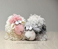 Amigurumi crochet sheep little inspiring soul por lescreasdeclo