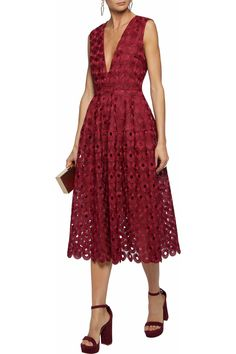 dd07a512 Pleated guipure lace midi dress | NICHOLAS | Sale up to 70% off