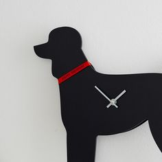 Black Poodle Clock with Wagging Tail