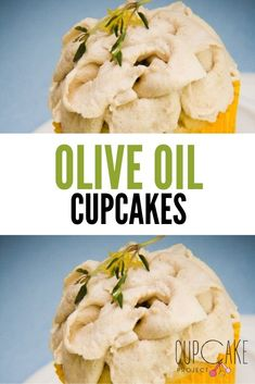 Olive oil cupcakes with balsamic vinegar whipped cream don't taste like salad dressing. If you love olive oil and balsamic vinegar, don't be afraid to try them in something sweet. You won't regret it! #Savory #Cupcake Strawberry Swirl Cheesecake, Strawberry Sauce, Cheesecake Strawberries, Gourmet Recipes, Baking Recipes, Easy Desserts, Dessert Recipes, Balsamic Vinegar, Creative Food