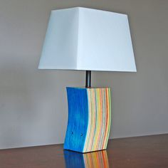 Lamp Made from Repurposed Skateboards by GenuineWoodworking