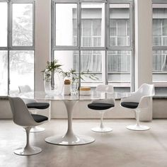 Perfectly Accented Dining Room MARBLE Pinterest Dining Room - Saarinen table top replacement