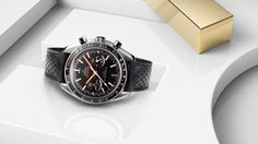 OMEGA Watches: Speedmaster Racing - True to OMEGA tradition, every new Speedmaster carries the spirit and design inspiration of the past. In the Speedmaster Racing Master Chronometer, this is immediately clear when you view the dial. Linked to the Speedmaster's motor racing heritage, the distinctive minute-track style returns again alongside other unique and refined details.