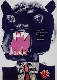 Karel Teissig, The Beast is Loose, film poster, Czechoslovakia, 1966 | Painter, graphic artist and illustrator. He was exhibiting both on his own and in groups since the 1950s Over the years 1959–1989 created eighty-two film posters. Award winning film posters: the Toulouse-Lautrec prize in 1964 in Paris (The Possessors).