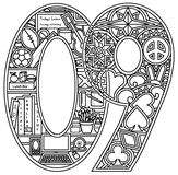 Download, print, color-in, colour-in Art Numbers