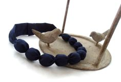 Etsy - Shop for handmade, vintage, custom, and unique gifts for everyone Bleu Marine, Incense, Wedding Day, Etsy, Blue Necklace, Short Necklace, Blue Fabric, Handmade Gifts, Unique Jewelry