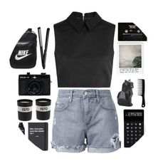 """""""➽ i'm searching for something i don't know ➽"""" by beyond-my-thoughts ❤ liked on Polyvore featuring McQ by Alexander McQueen, Nobody Denim, Topshop, Bella Freud, LEXON, Holga, Living Proof, CASSETTE, NIKE and simple_sets_by_claris"""
