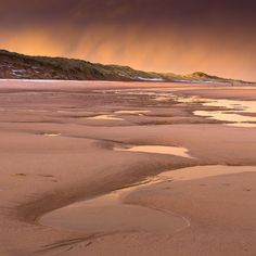 Golden Balmedie Beach in Aberdeenshire, Scotland
