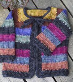 YarnHarlot's Yet Another Tulip Sweater Baby Cardigan Knitting Pattern Free, Kids Knitting Patterns, Crochet Baby Sweaters, Knitted Baby Cardigan, Knitted Coat, Sweater Knitting Patterns, Knitting For Kids, Knit Crochet, Woolen Clothes