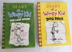 Lot 2 Hardcovers Diary of a Wimpy Kid Books 3 and 4 J Kinney Dog Days Last Straw