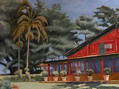 Geraldo Rodrigues - 2012 - Casa na Fazenda de Lucia Junqueira- óleo sobre tela  - Dimensões: 1,00m x 0,70m