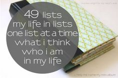 49 Lists   Monika Wright