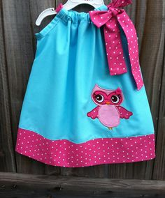 Adorable Pillowcase Dresses | Adorable Girl Pillowcase Dress with Owl by Valentinasplace on Etsy