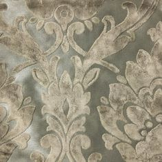 Upholstery Fabric  Radcliffe  Beach  Lurex Burnout by TopFabric