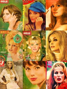 Sophia Loren, Joan Collins, Rika Diallina, Brigitte Bardot, Britt Ekland, Sharon Tate, Barbara Bouchet, Elsa Martinelli & Ursula Andress.