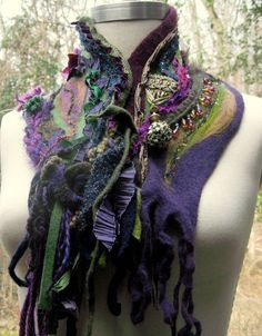 Beautiful ! Felted cashmere neckwarmer (amberstudios on Etsy)
