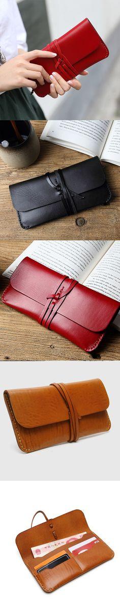 Handmade leather vintage women long multi cards wallet clutch purse wallet Women's Belts - http://amzn.to/2id8d5j