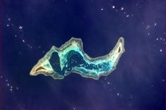 """Small island off Indonesia, almost looks like """"tramsparent insides"""""""