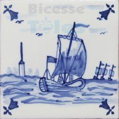 ATD035 XVII Century Antique Blue Drawings