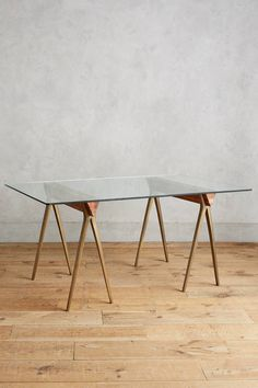 Anthropologie Hammered A-Frame Dining Table
