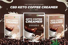 CBD Keto Coffee Creamers: - Three Flavors - Hazelnut, Mocha, Vanilla - of Hemp Oil Extract Per Cup - Garcinia Cambogia - MCT Oil - Coconut Milk Powder - Keto - 15 Servings Per Box - Gluten Free - Vegan - Sugar Free - Zero THC - Mix into any cup of coffee Moka, Coconut Oil Coffee Benefits, Keto Coffee Creamer, Coffee Review, Coconut Milk Powder, Vegan Sugar, Vegan Keto, Coffee Tasting, Coffee Scrub