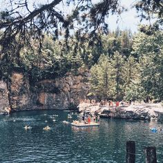 Take a dip in this granite quarry!