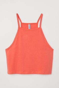 Short, fitted camisole top in jersey with narrow shoulder straps. Cool Outfits, Summer Outfits, Fashion Outfits, Women's Fashion, H&m Tops, Cute Tops, Dungaree Dress, American Eagle Shirts, H&m Shorts