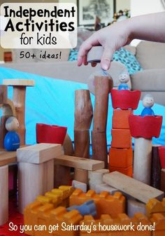 Independent Activity Ideas for Kids (so you can get Saturday's housework done) Over 50 ideas!!