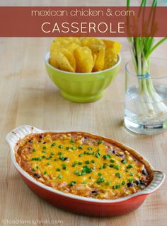 GIVEAWAY | Mexican Chicken and Corn Casserole Recipe