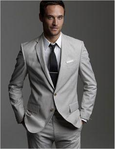 J Crew groom in grey   My kinda style